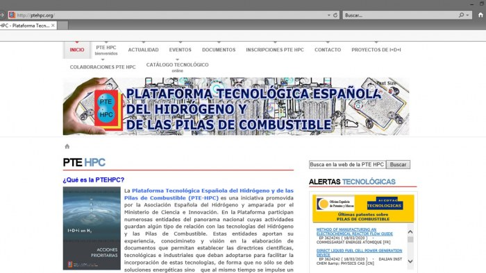 H2SITE new member of the Spanish Technological Platform for Hydrogen and Fuel Cells (PTE-HPC)